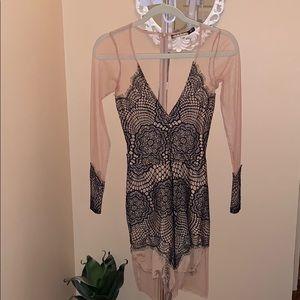 For love and lemons xs sheer dress